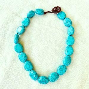 Lauren by Ralph Lauren Turquoise Chunky Necklace